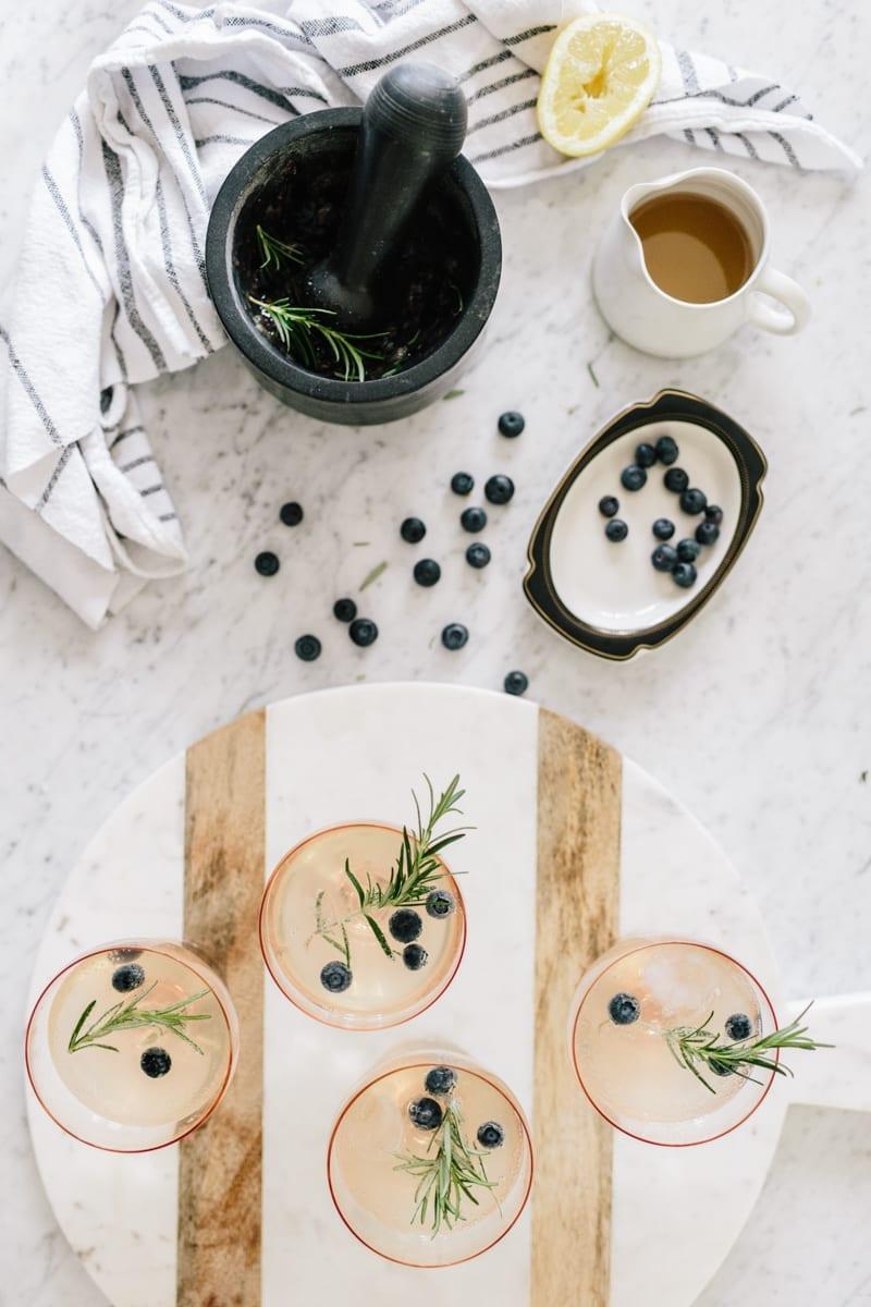 Blueberry Rosemary Mocktail — Wit & Delight
