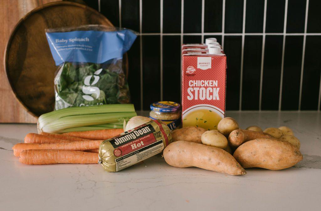 Creamy Sweet Potato Soup Ingredients